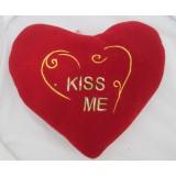 01103.4 Червено плюшено сърце с бродерия 25 см