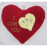 01103.5 Червено плюшено сърце с бродерия 25 см