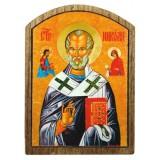 03171.1 Дървена икона на Св. Николай Чудотворец 8 см