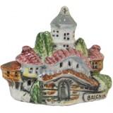 01174 Керамична къща с изглед и надпис Балчик 9 см