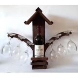 01075 Стойка с вино 750 мл и 6 чаши 35/40 см