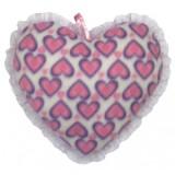 01104.2 Розово плюшено сърце  36 см