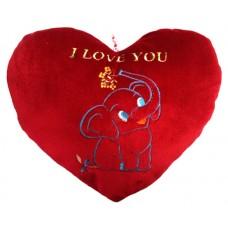 01104.3 Червено плюшено сърце с бродерия 36 см