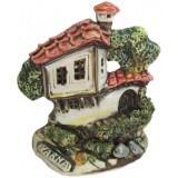 01384 Керамична къща с надпис и изглед от Варна 13 см