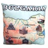 02008.6 Плюшена възглавница с карта на България 35 см