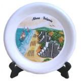 02036.5 Керамична чиния с изглед от Албена  6 см
