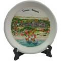 02037.10 Керамична чиния с изглед от Кранево 8 см