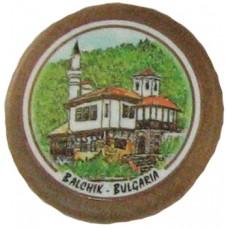 02042 Дървен магнит с изглед от Балчик 8 см