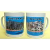 02055.5 Керамична чаша с изглед от Златни пясъци 9 см
