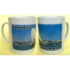 02055.9 Керамична чаша с изглед от Кранево 9 / 7 см