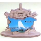 02089 Салфетник с карата на България и изглед от Кранево 9 см