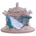 02090 Салфетник с карата на България и изглед от Обзор 9 см
