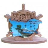 02092 Салфетник с карата на България и изглед от Св. Св. Константин и Елена 9 см