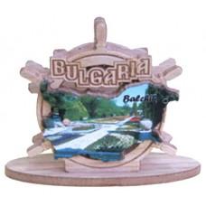 02093 Салфетник с карата на България и изглед от Балчик 9 см