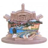 02096 Салфетник с карата на България и изглед от Несебър 9 см