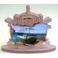 02097 Салфетник с карата на България и изглед от Слънчев бряг 9 см