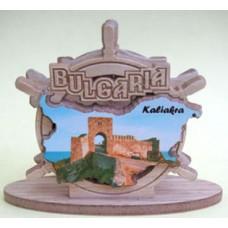 02098 Салфетник с карата на България и изглед от нос Калиакра 9 см