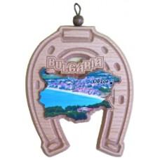02100 Подкова с карата на България и изглед от Обзор 12 см