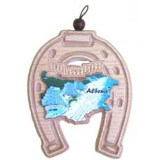 02104 Подкова с карата на България и изглед от Албена 12 см