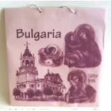 02113 Хартиена торба с изгледи от България 25 на 24 см