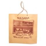 02113 Хартиена торба Златни пясъци 24 на 25 см