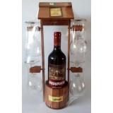 02205 Кладенец с вино 750 мл и 4 чаши 40/25 см