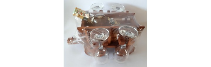 02210 Каруца с ракия 200 мл и 4 чаши 15/25 см