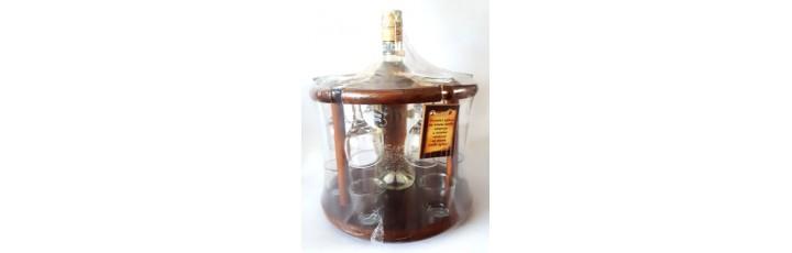 02220 Стойка за ракия 500 мл, 6 чаши и 6 шота 30/25 см