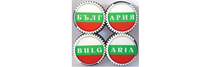 02222 Магнит - спинър България 7/7 см