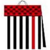 03114.1 Подаръчни торби в пакет по 10 различни цвята 17на 17 на 6 см