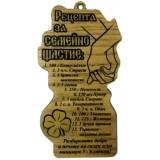 03121 Дървен папирус Рецепта за семейно щастие 15 см