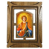 03144.3 Дървена икона със Св. Димитър 19 см