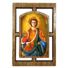 03145.3  Дървена икона със Св. Димитър 12 см