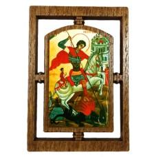 03145.6 Дървена икона със Св. Георги 12 см