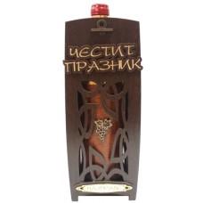 03203 Кутия с бутилка декорирано вино 750 мл