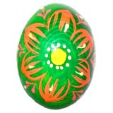 03210 Дървено яйце зелено 6 см