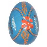 03210 Дървено яйце синьо 6 см
