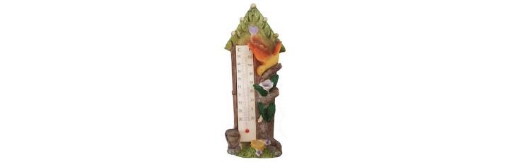 05006.2 Термометър къща с птички 15 см