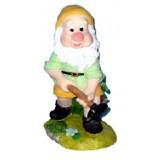 06013 Декоративна фигура на гномче с чук 18 см