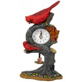 06014 А Часовник с птици на дърво 20 см
