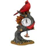 06014 В Часовник с птици на дърво 20 см