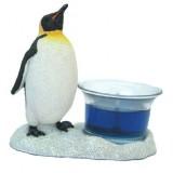 06021 Свещник с пингвин 11 см