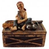 06057 Кутия - бижутерка с пират 9 см
