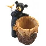 06077 Моливник мечка с цвете 10 см