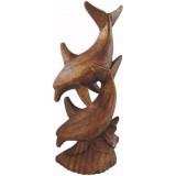 07002 Делфини изработени от финно дърво 30 см