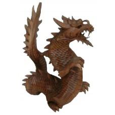 07009 Дракон изработен от финно дърво 30 см