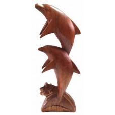 07002.1 Дървена статуеткас делфини 40 см