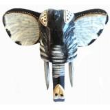 07063 Глава на слон - пано за стена 40 см