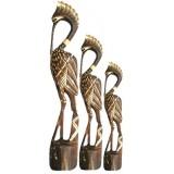 07117 Комплект дървени чапли 60, 80, 100 см
