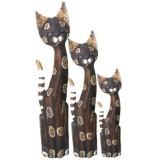07138 Комплект дървени  котки 60, 80, 100 см
